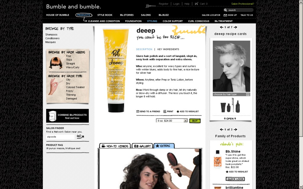 Bumble and Bumble Single Product Page