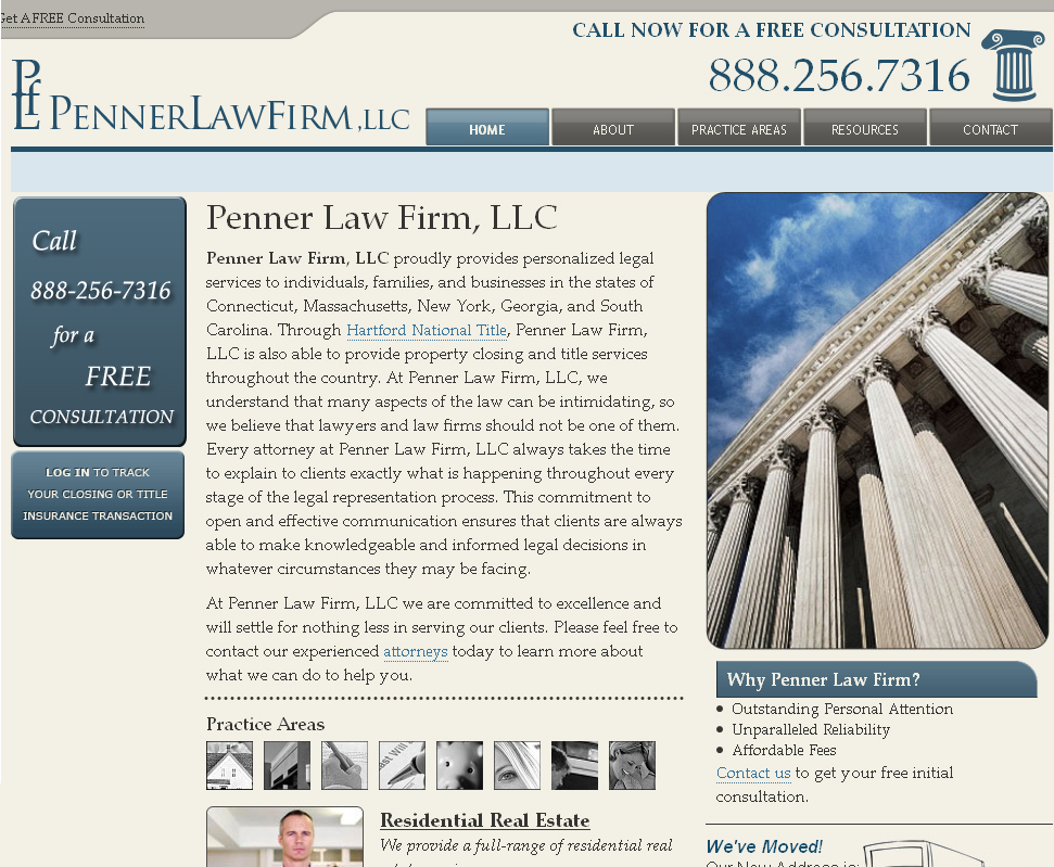 Penner Law Firm - An Attorney Website