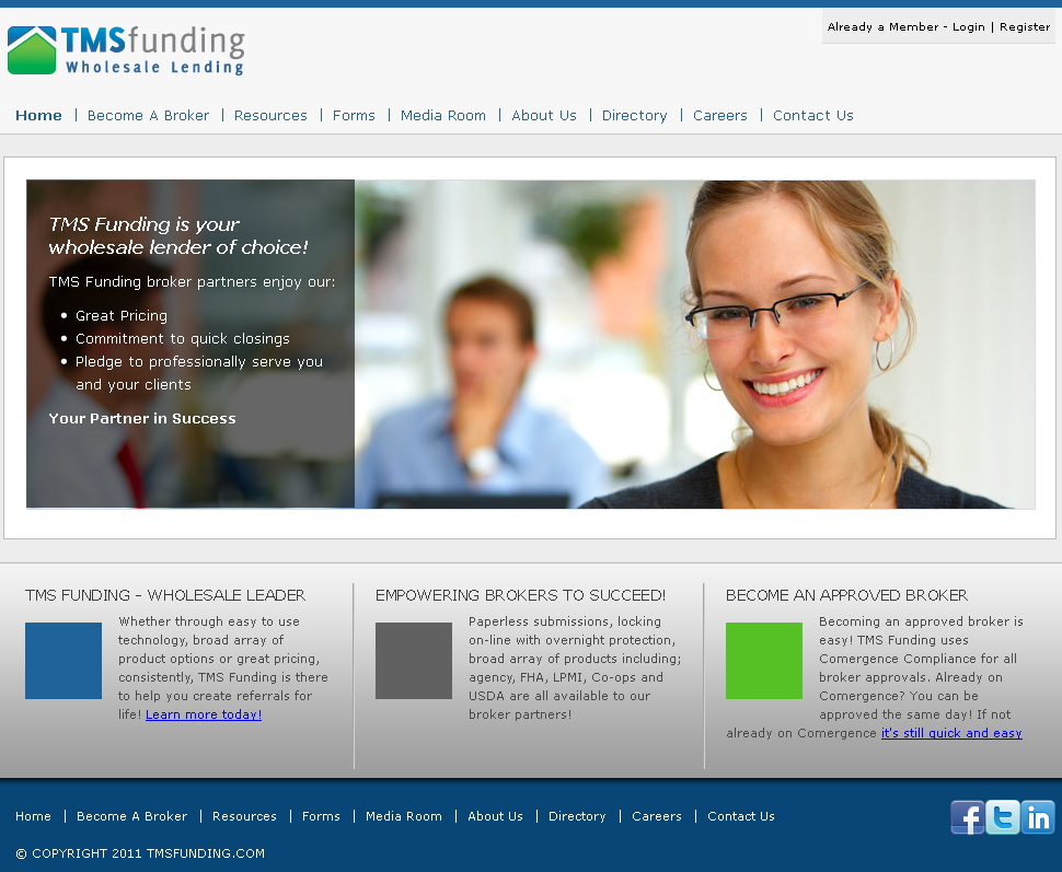 TMS Funding - Homepage